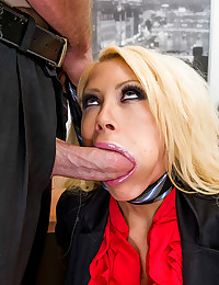 Busty Blonde Gets Face Fucked