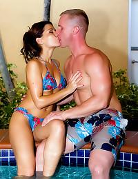 Sexy bikini body on fuck slut