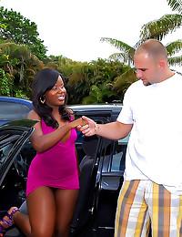 Black girl likes sticky facia...