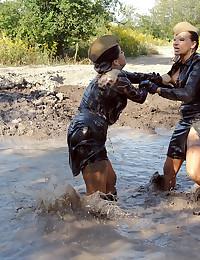 Mud wrestling babes