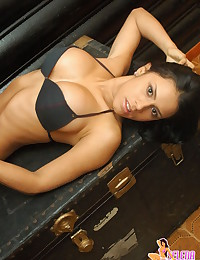 Selena Spice - Sultry Latina shows us her big perky titties naked
