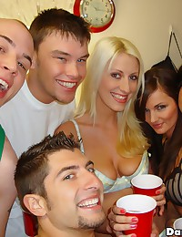 5 super hot mini skirt college babe strip and get fucked hard in these hot full on group sex fucking dorm room xxx pics