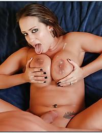 Big cock fucks busty housewife