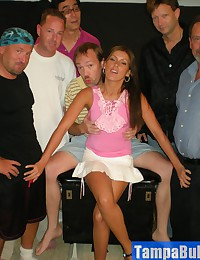 Tanned Hottie Viki Having a Tampa Bukkake Gang Bang Party