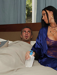 Horny milf wants him inside her