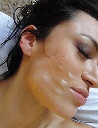 Oiled Freanceska Covered In Cum