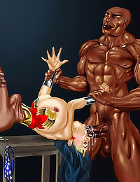 Interracial cartoon porn fuck...