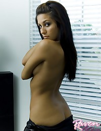 Raven Riley - Smoking hot brunette latina in slutty latex dress
