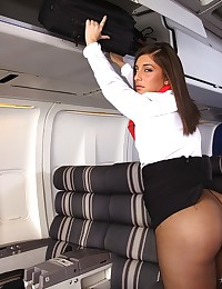 Pretty Air Hostess Fucks The Pilot