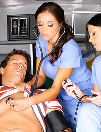 Man in ambulance fucked hard