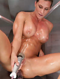 Tight Pussy Destroyed By Dildo Machine