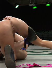 Two tough street girls go head to head in non-scripted wrestling to see who is the toughest bitch. Loser gets fucked by the winner and Isis Love!