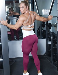 Muscular and very strong sport athletes expose some of the most attractive parts before the camera.
