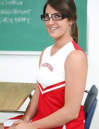 Adorable Cheerleader Teen Bailey