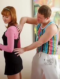 Internal sex massage for a te...
