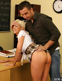 Busty sexy schoolgirl slut