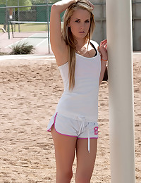 Petite Blonde Tennis Babe Sara James