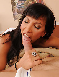 Cock eating mom with dark hair