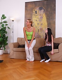 Maya and her friend made one guy. They took him home and started teasing him and licking his rod.