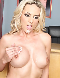 Yummy blonde has great tits