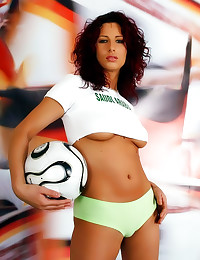 Sexy soccer chick with big ti...