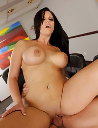 Fucking busty slut on his desk