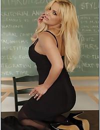 Busty Blonde Teacher Shyla Teaches Lesson