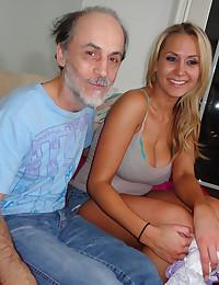 Gorgeous Blonde Alanah Pleasures Older Man