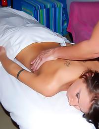 Teen babe massage fuck