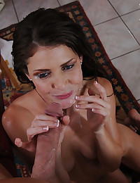 Slender Milf Impaled On Huge Cock