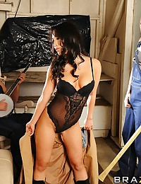 Asa Akira has always fantasized about having two complete strangers take advantage of her and use her as their cumslut. When her car breaks down on the way to a shoot and she's forced to go in search of a landline, Asa doesn't realize how close she is to