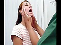 Sandy gets regular pussy checkup at gyno clinic