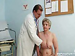 Mature fat pussy Ruzena gyno speculum bizzare clinic ex