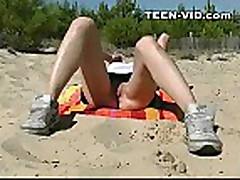 18yo blond teen nudist