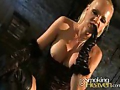 Smoking Blonde in Boots