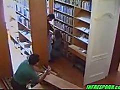 Very cute russian teen fucking in library