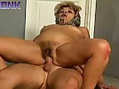 Grandma gets fucked after cleansing and