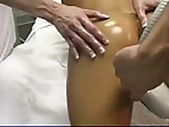 Ashley Lawrence gets rubbed down