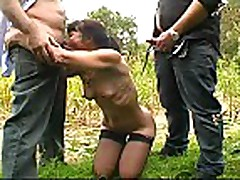 French Mature Outdoor Gangbang