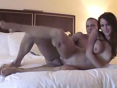 Slut banged hard in hotel room by a big cock