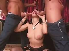 Gorgeous Rebeca Linares threesome video