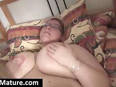 Two Chubby Mature Lesbians Toy Muffs