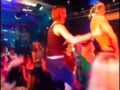 Naked Strippers Fucking Hot Babes At CFNM Orgy