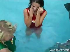 Lesbian Pool Fun