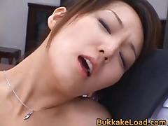 Sexy Real Asian Shiho Getting Jizz Soaked During Radical Bukakke 1 By BukkakeLoad