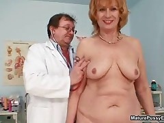 Dirty Mature Woman Gets Her Wet Hairy Pussy Finger Fucked Hard By A Doctor By MaturePussyExams