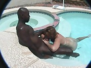 Bbw MILF in the pool