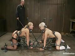 Isis Love And Mellanie Monroe And Tara Lynn Foxx - Device Bondage