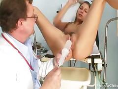 Kira - Kira Kinky Gyno Exam At Gyno Clinic With Old Bizarre Doctor