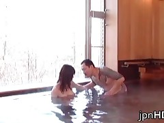 Pretty Japanese Lesbian Fucking With Strap-on In The Sauna 1 By JpnHD